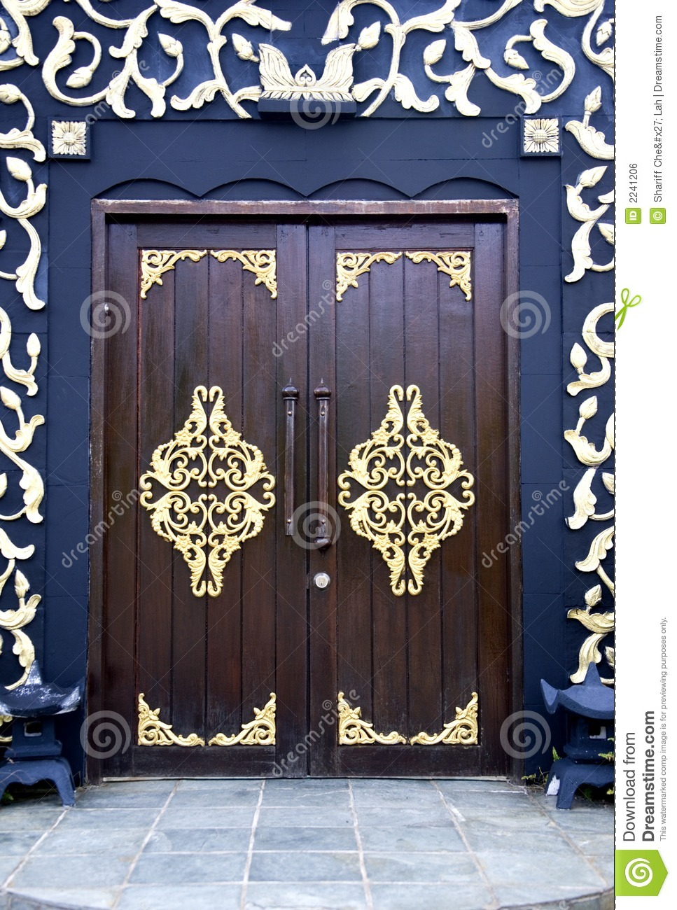 Traditional Malay House Doors Stock Photo Image 2241206