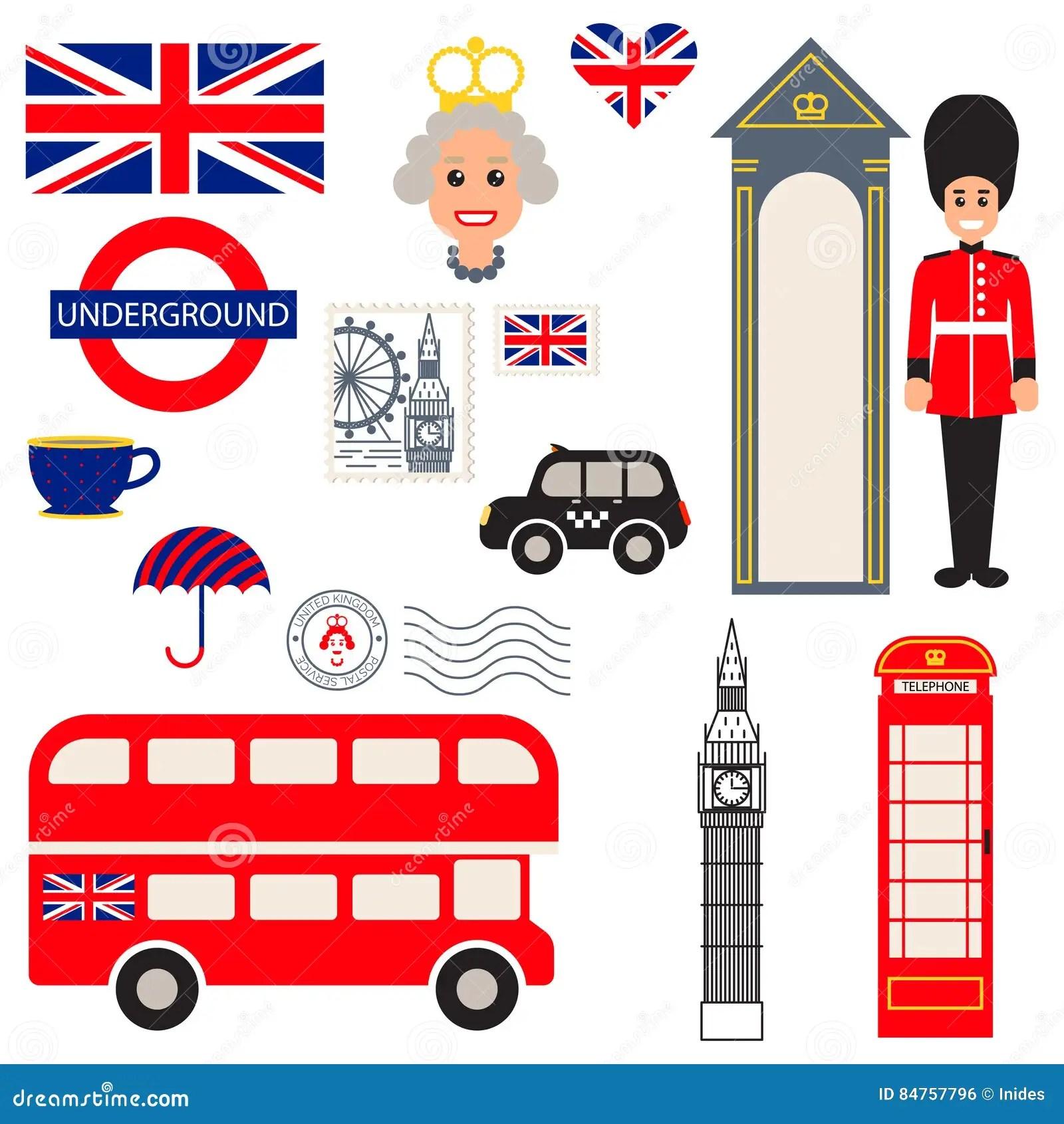 Traditionelle Symbole England Vektors Redaktionelles Foto