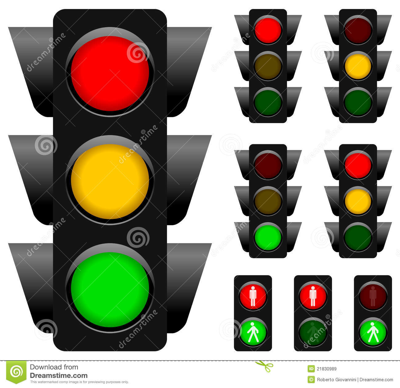 Traffic Light Collection Royalty Free Stock Images