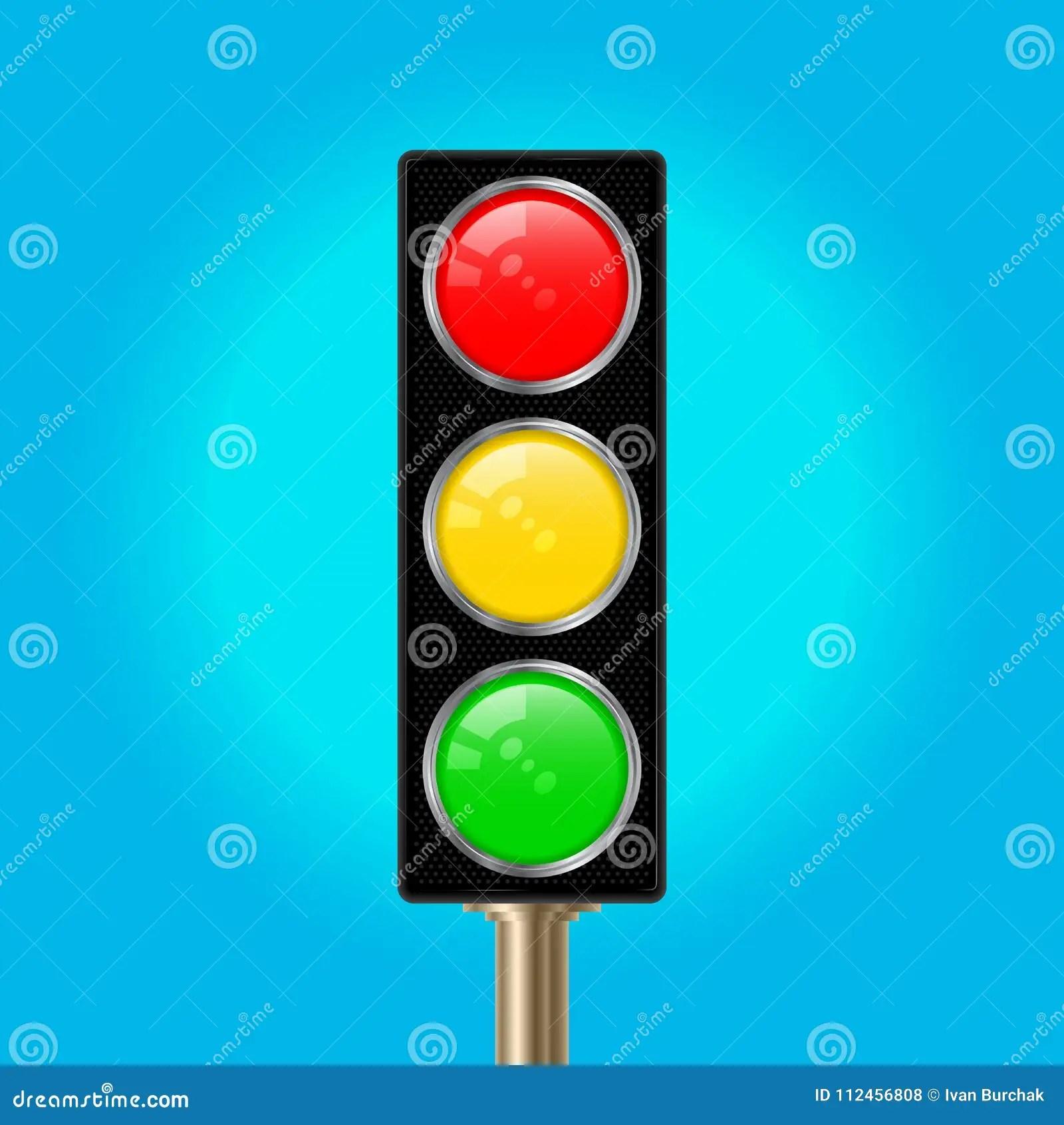 Traffic Light Pole Vector Illustration Stock Vector