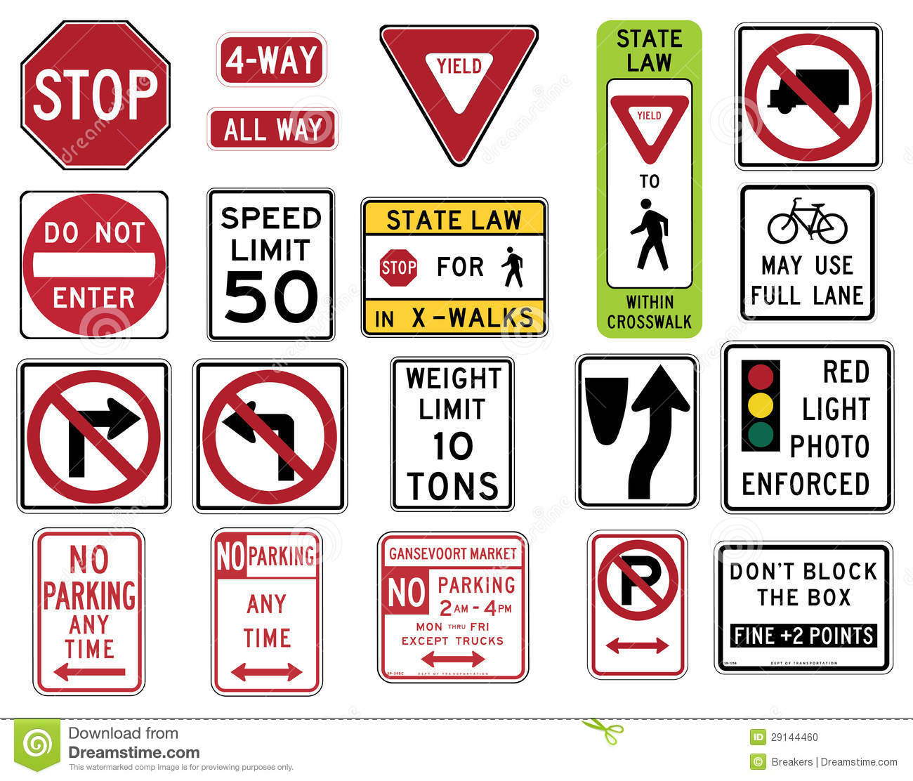 Traffic Signs In The United States