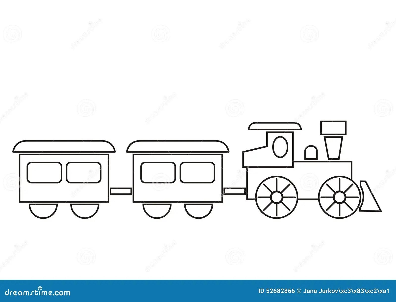Train Coloring Book Stock Vector