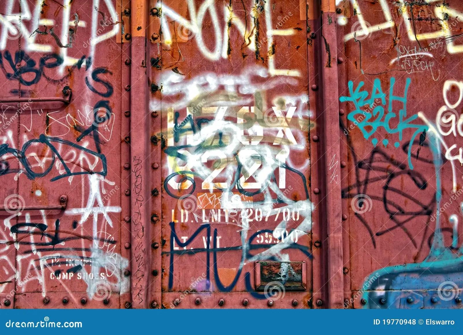 Train Graffiti Texture Stock Photo Image Of Different