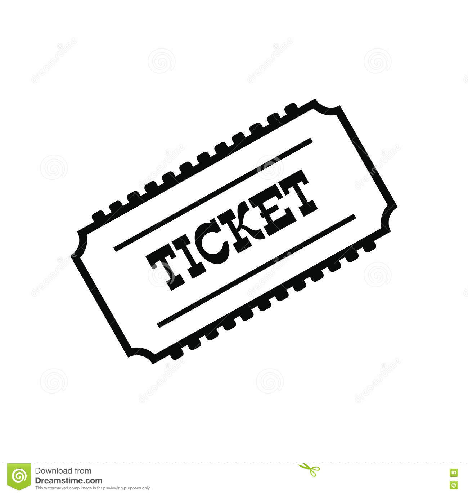Train Ticket Icon Stock Vector Illustration Of Click