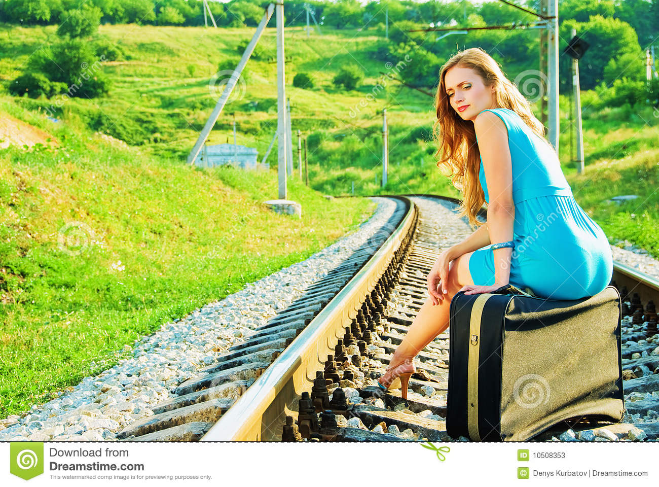 On The Train Tracks Stock Image Image Of Line Long