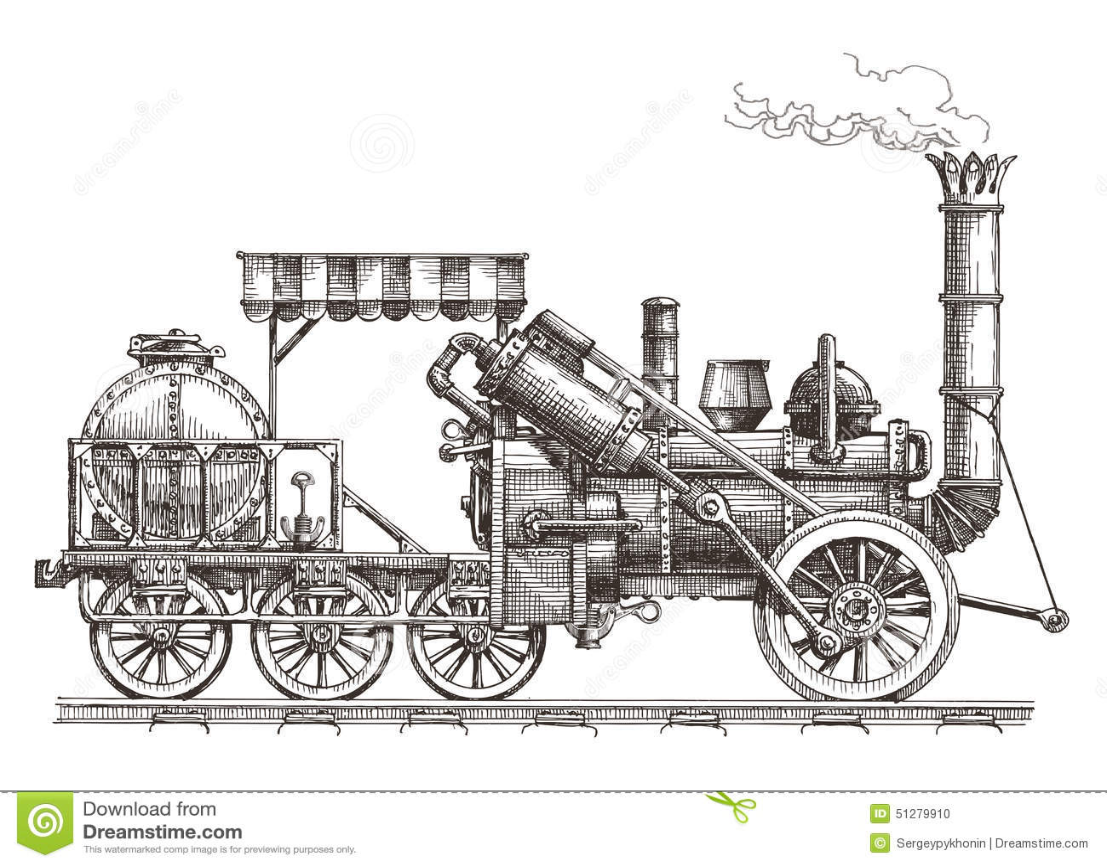 Train Vector Logo Design Template Steam Stock Vector