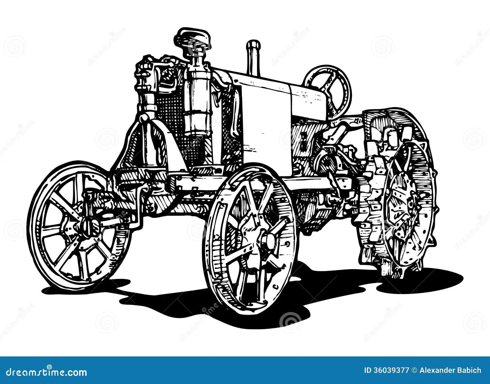 Traktor Vektor Abbildung Bild Von Transport Zeichnung