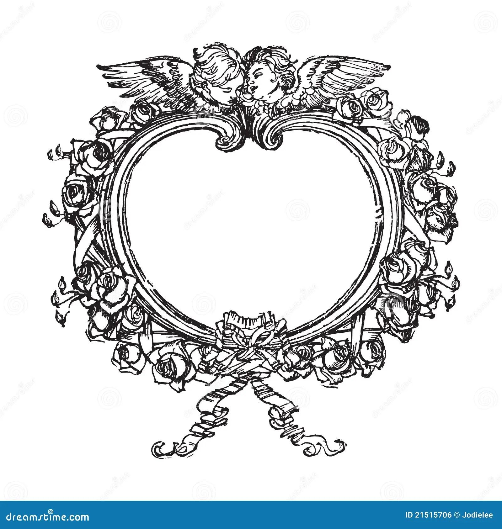 Trame Florale Victorienne Avec L Illustration D Anges