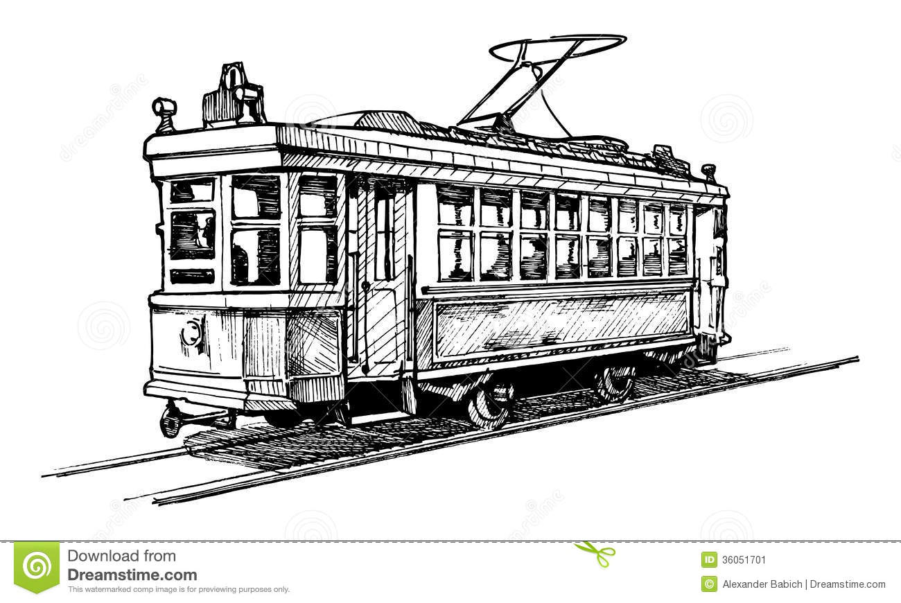Tramway Stock Vector Illustration Of Tram Image Tram