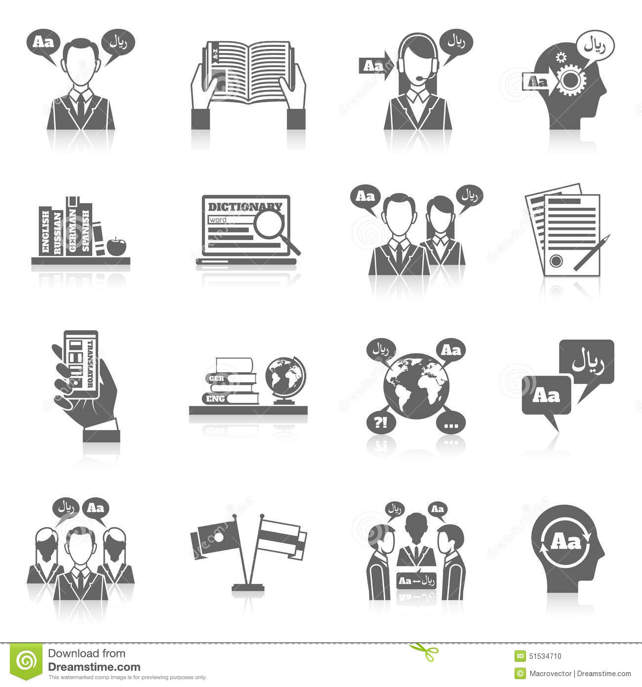 Translation And Dictionary Icon Stock Vector