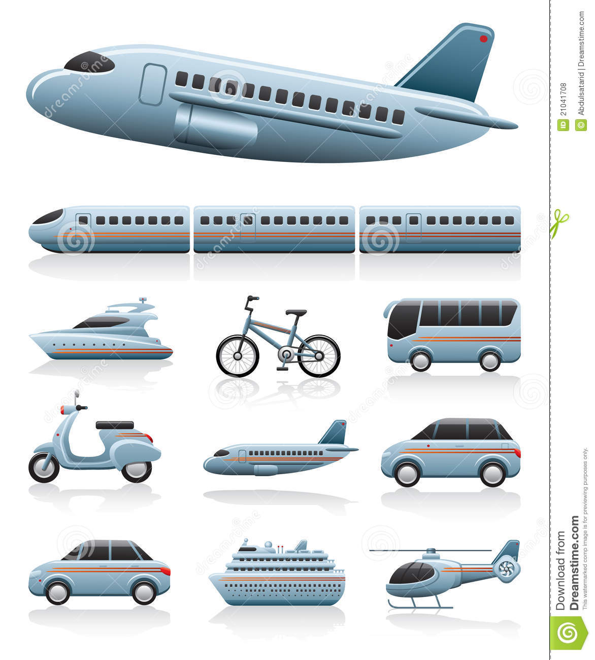 Transportation Icons Stock Vector Illustration Of Travel