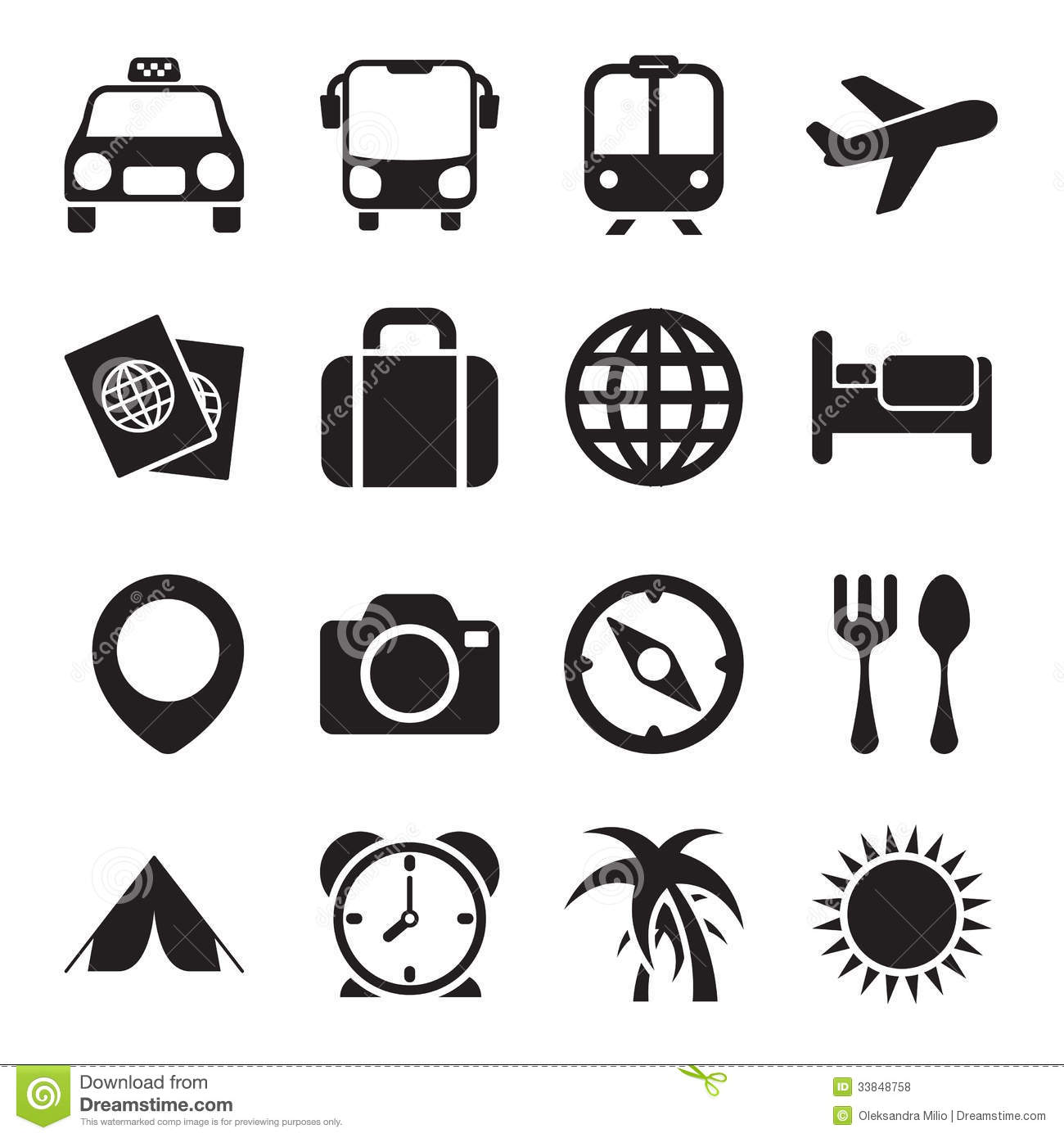 Travel Icons Stock Vector Illustration Of Photo
