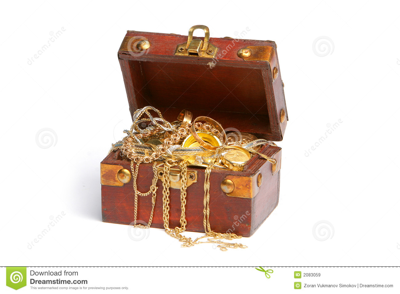 Treasure Chest Royalty Free Stock Images Image 2083059