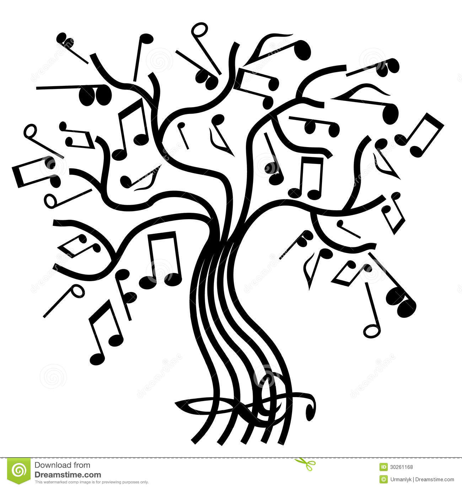 Musical Tree Vector Stock Vector Illustration Of Tree