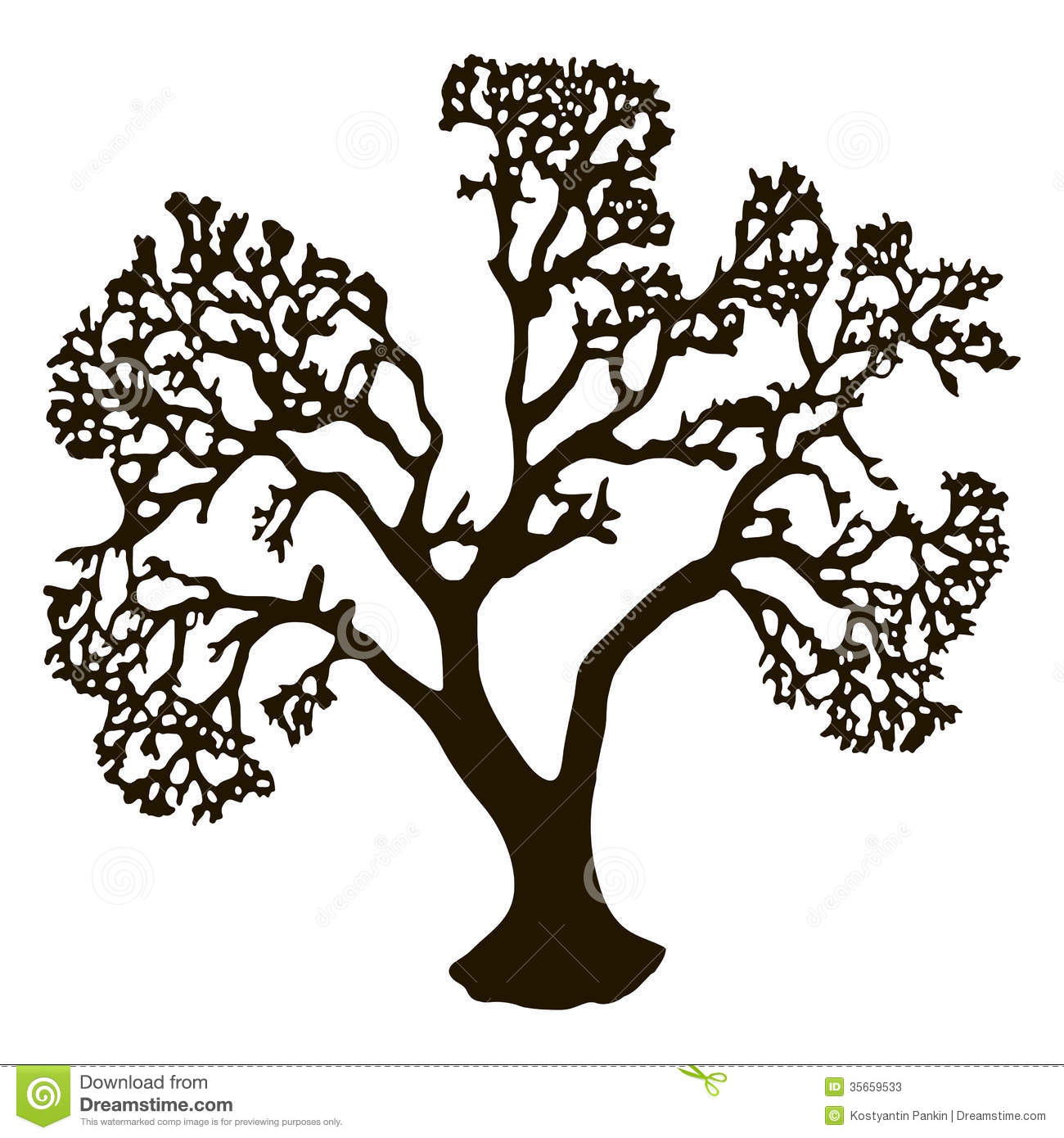 Tree Without Leaves Stock Vector Illustration Of
