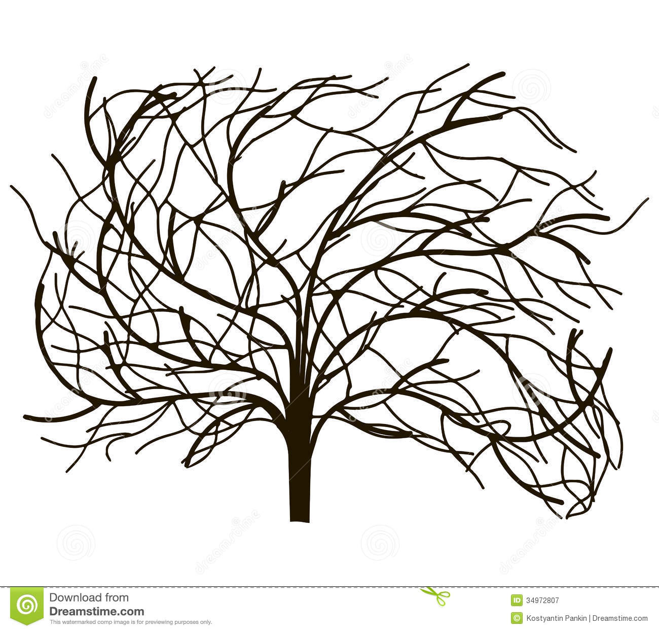 Tree Without Leaves Royalty Free Stock Photography
