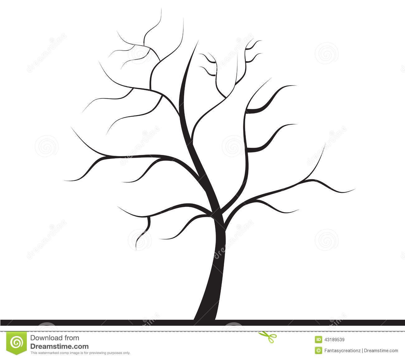 Tree Without Leaves Stock Image Image Of Firm Clipart