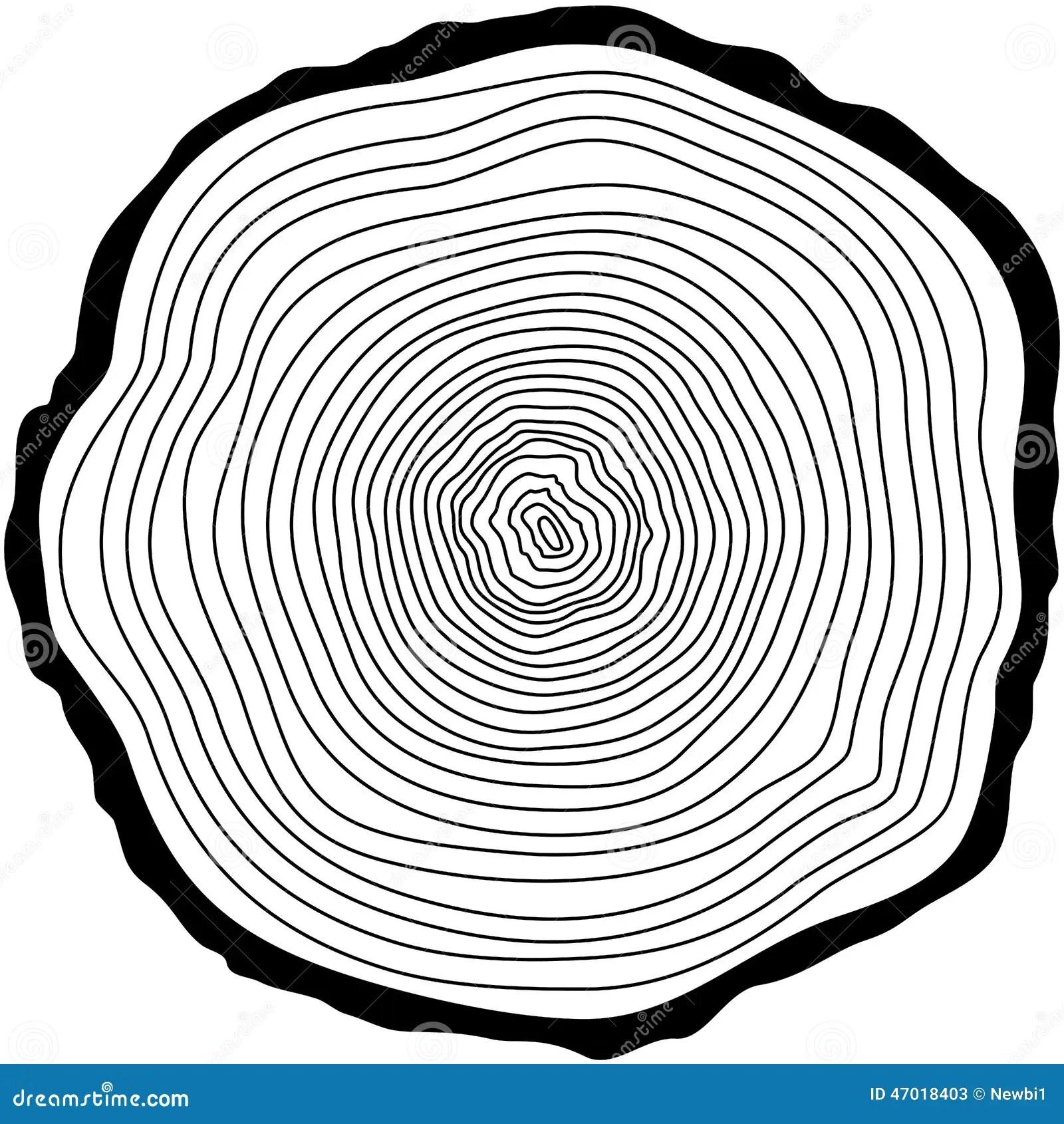 Tree Rings Stock Vector Illustration Of Pattern Rough