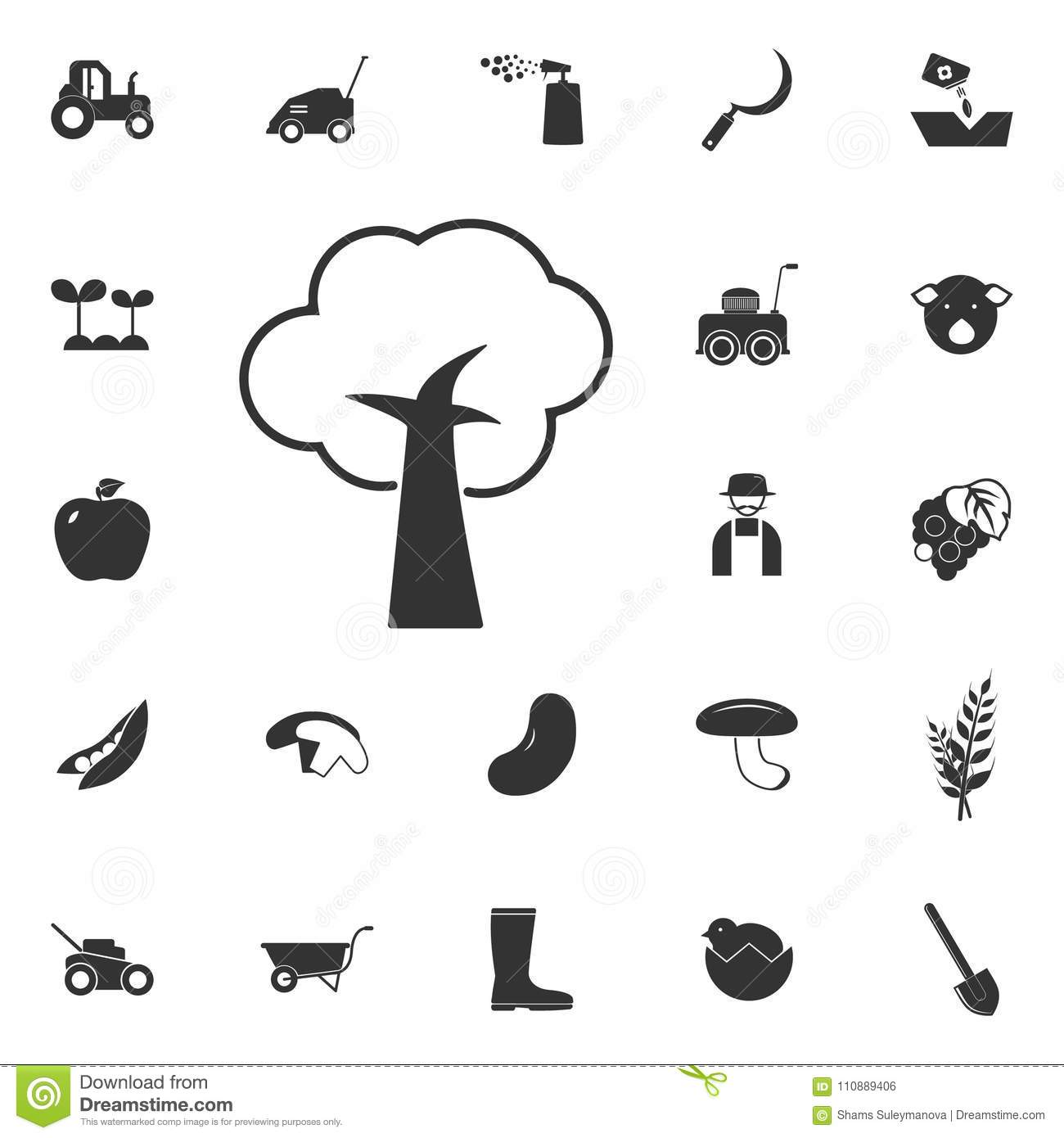 Ecology Icons Organic Natural Symbols Vector Illustration