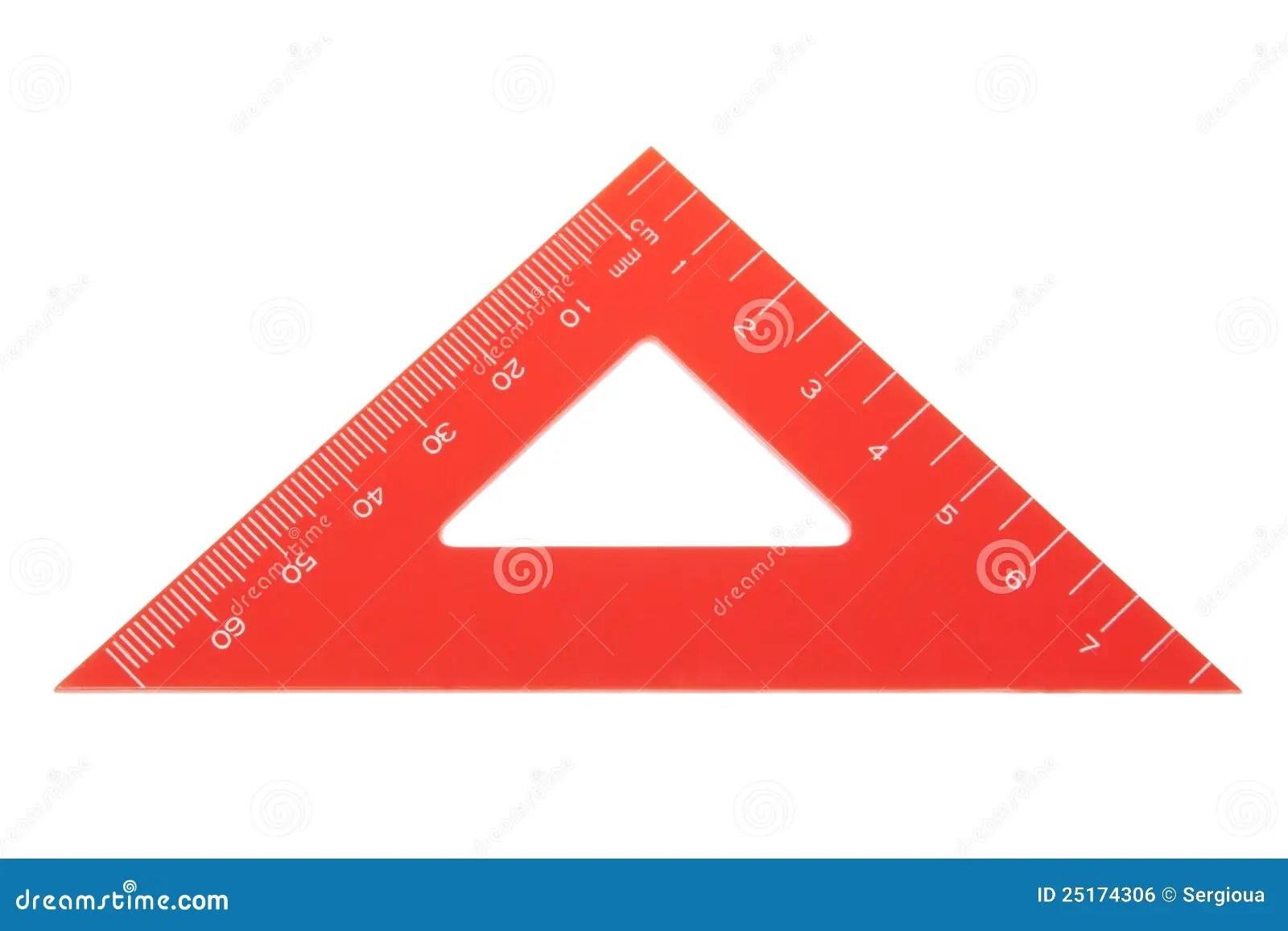 Triangle Protractor Closeup Stock Photo