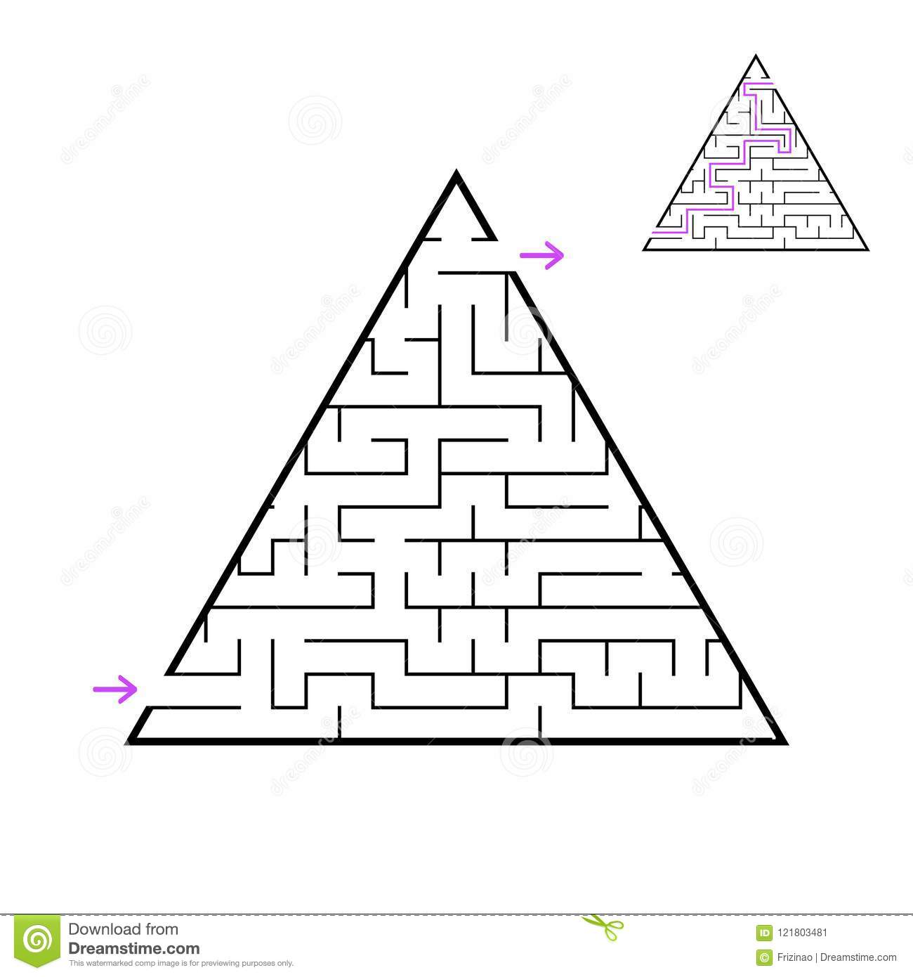 A Triangular Labyrinth A Pyramid With A Black Stroke A