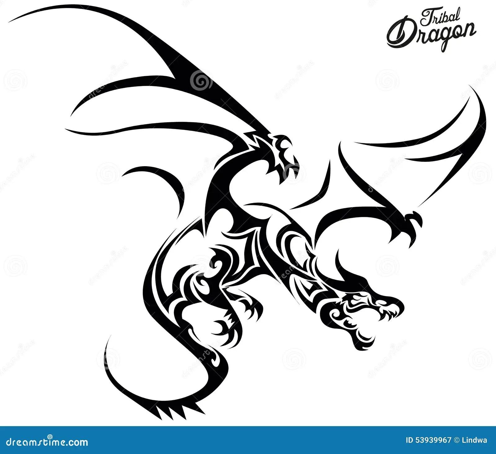 Tribal Dragon Stock Vector