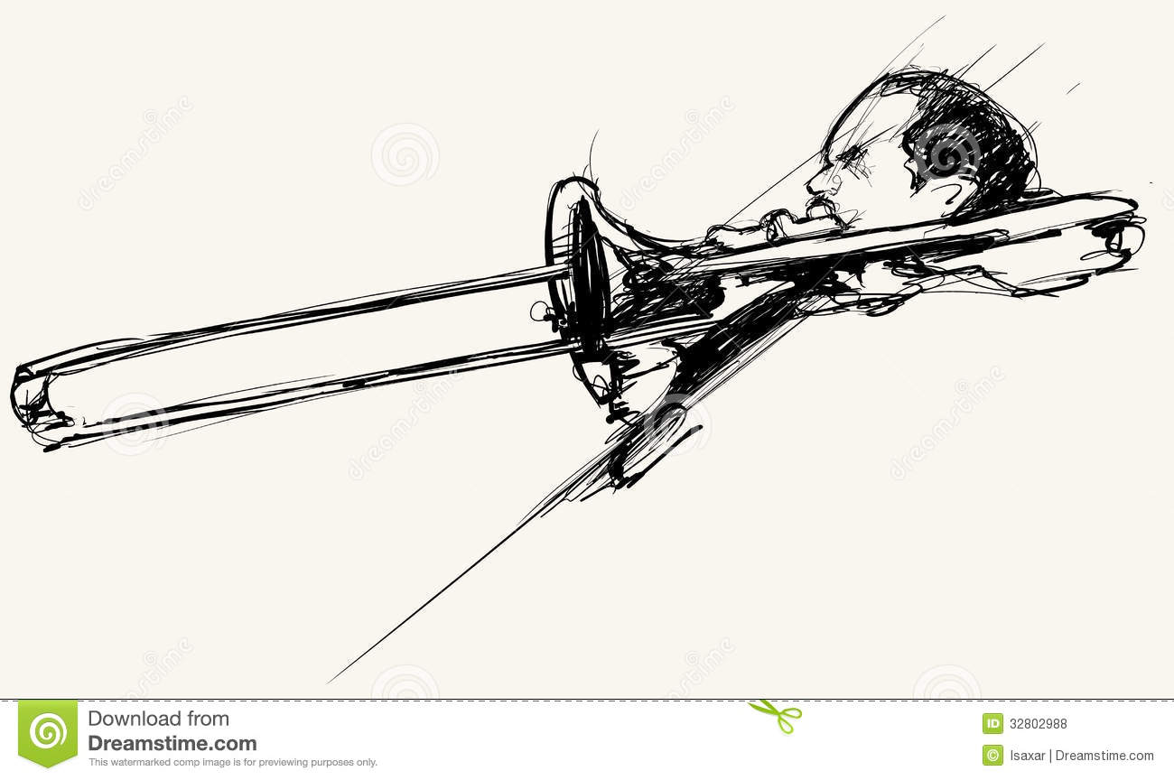 Trombone Player Royalty Free Stock Photos