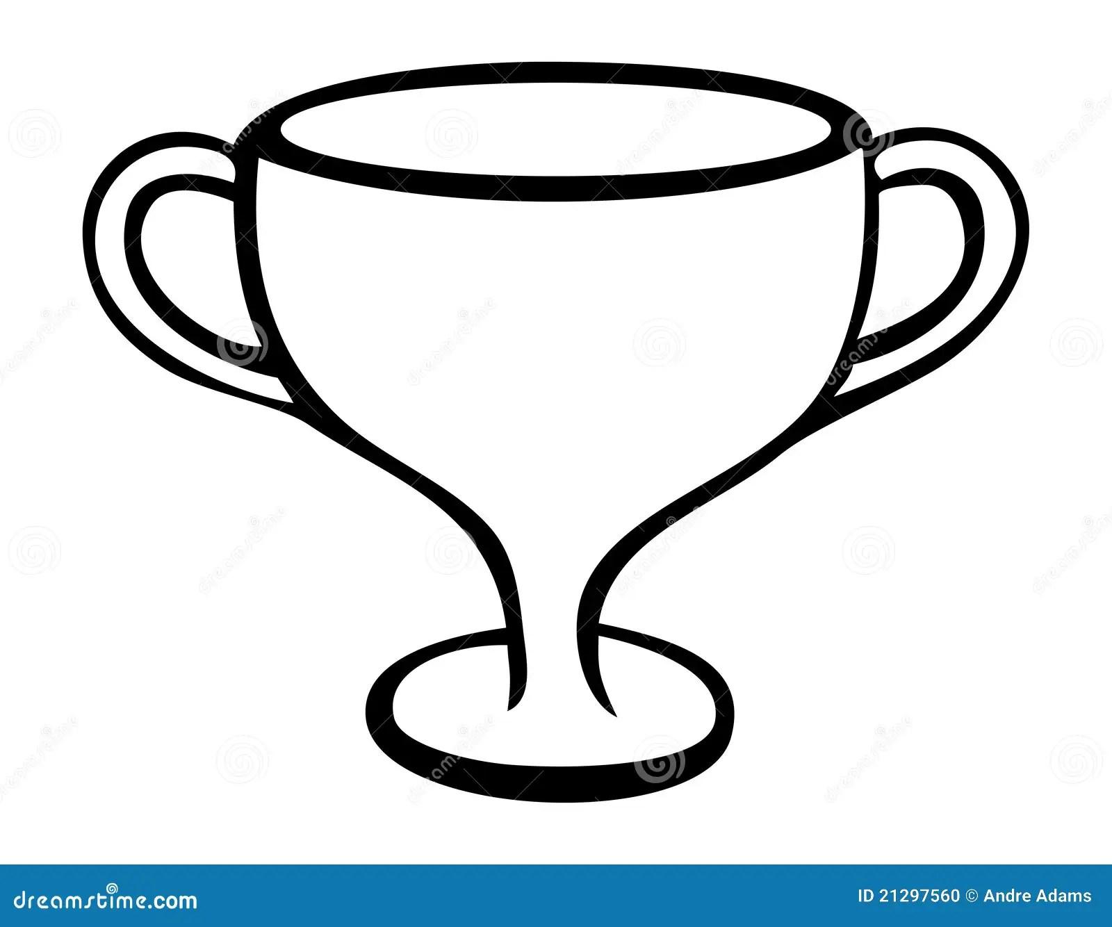 Trophy Outline Stock Illustration Image Of Shiny First