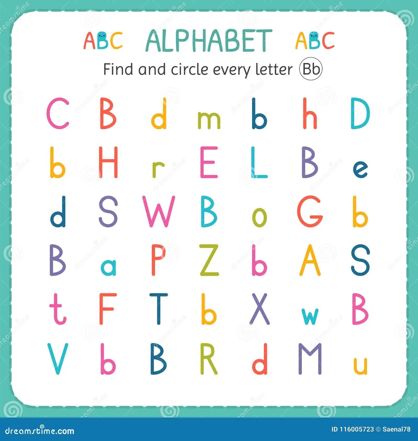 Trouvez Et Entourez Chaque Lettre B Fiche De Travail Pour Le Jardin D Enfants Et L Ecole