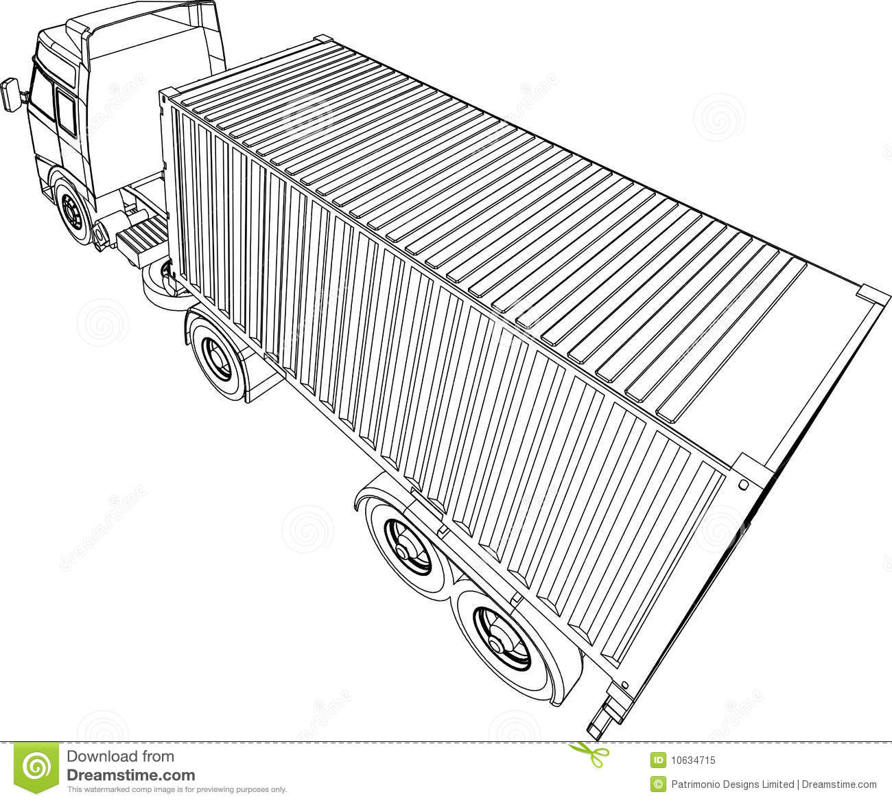Truck And Trailer Container Van Royalty Free Stock Photo