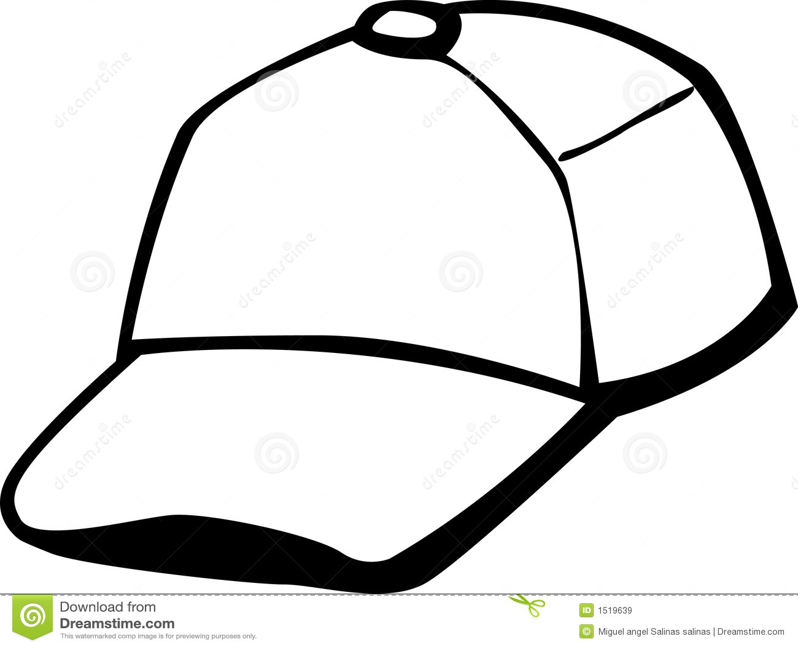 Trucker Or Baseball Cap Vector Illustration Royalty Free