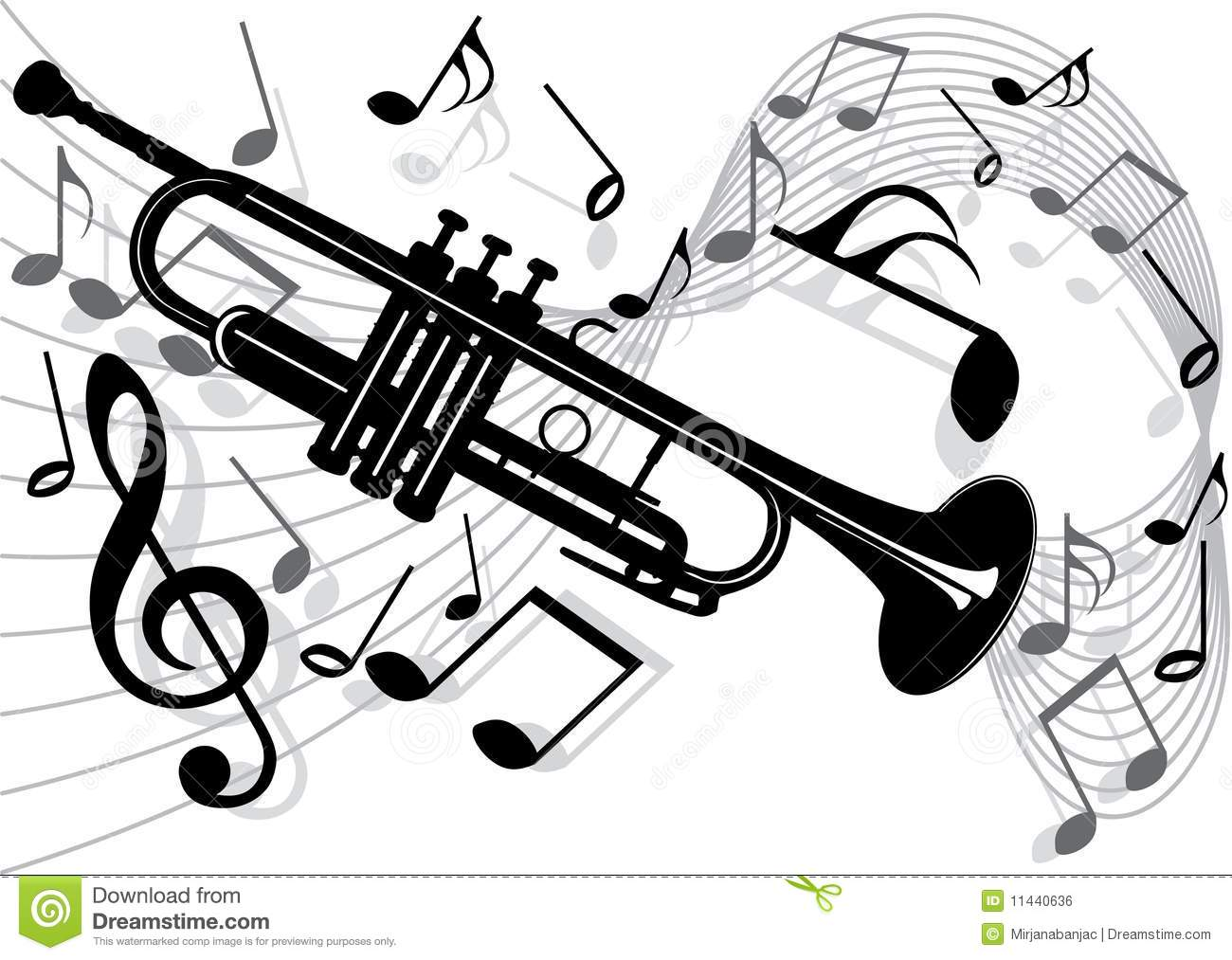 Trumpet Stock Vector Illustration Of Composer Trumpet