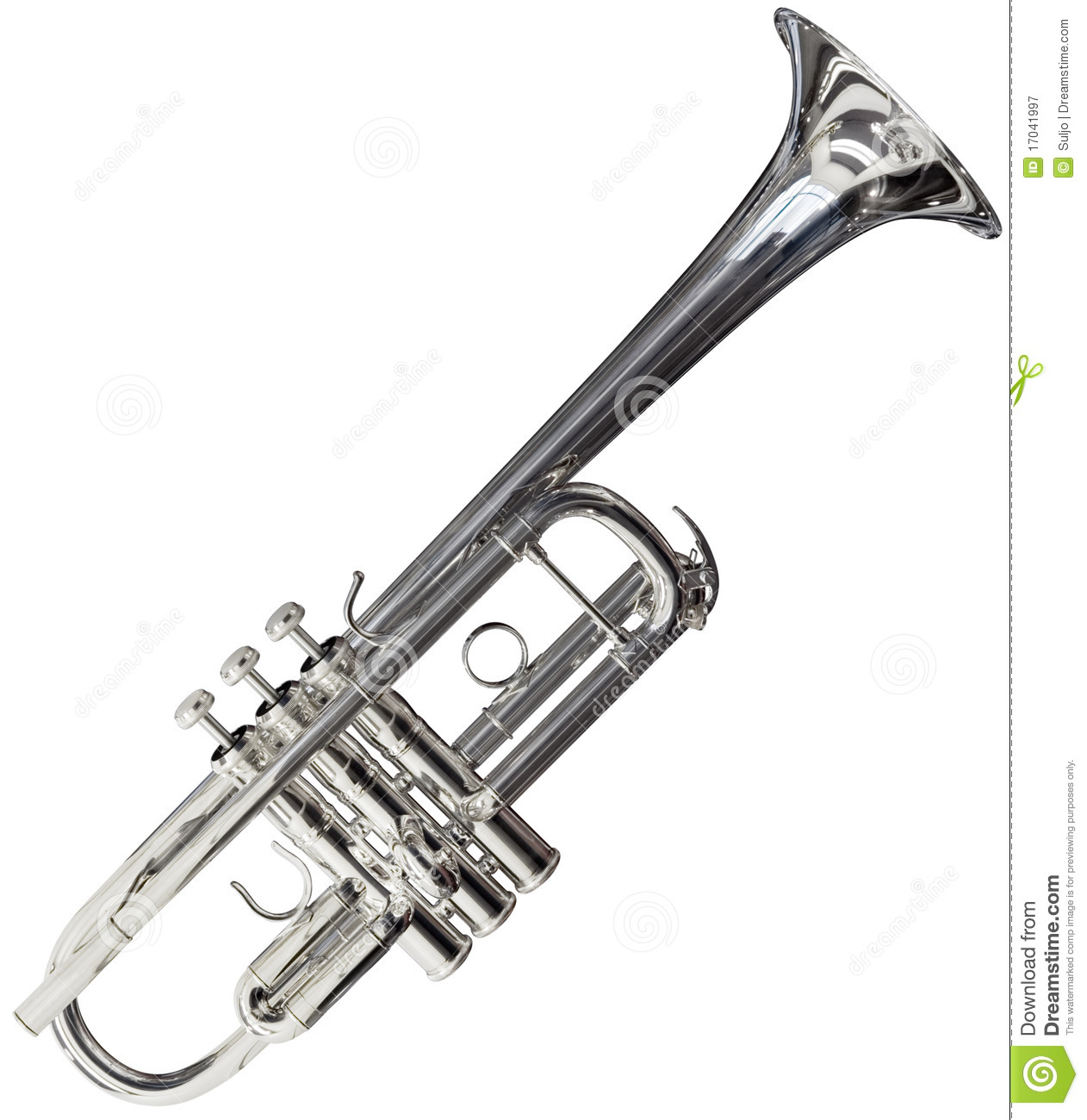 Trumpet Cutout Royalty Free Stock Photography