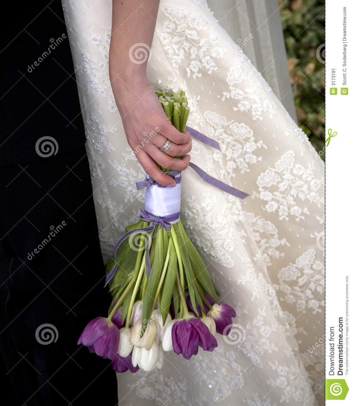 Tulip Wedding Bouquet Stock Image Image Of Commitment
