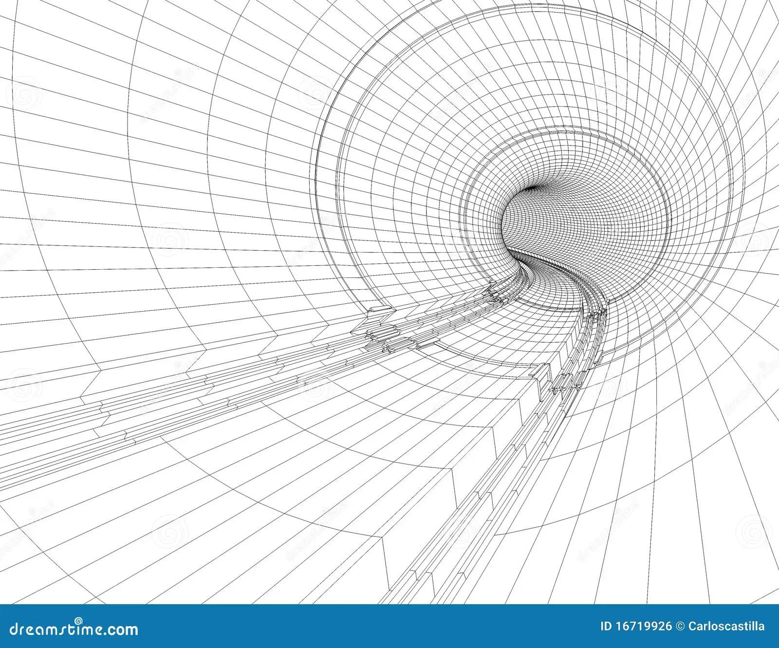 Tunnel Blueprint Stock Illustration Illustration Of Bent