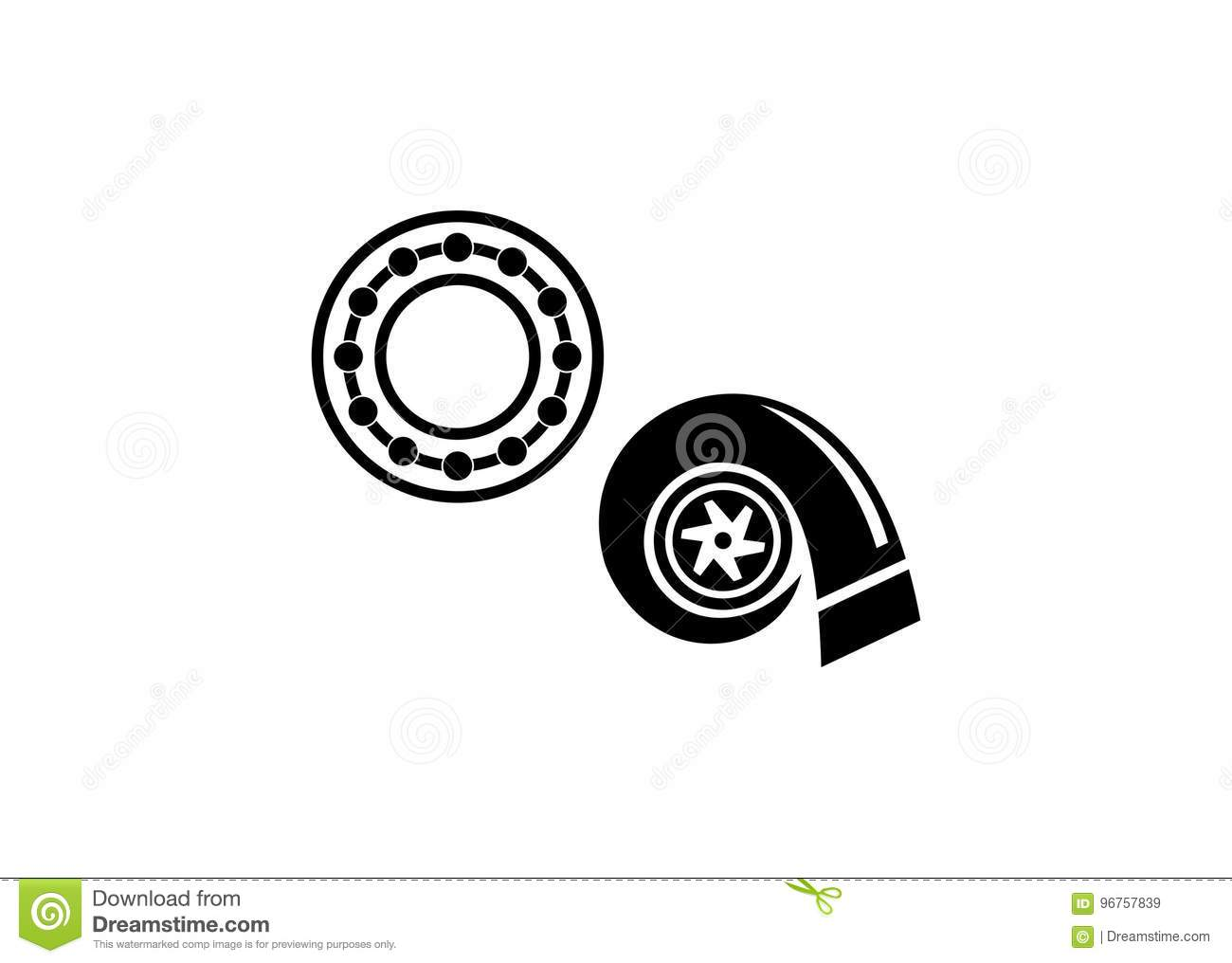 Turbo Stock Vector Illustration Of Turbo Bearingnorange