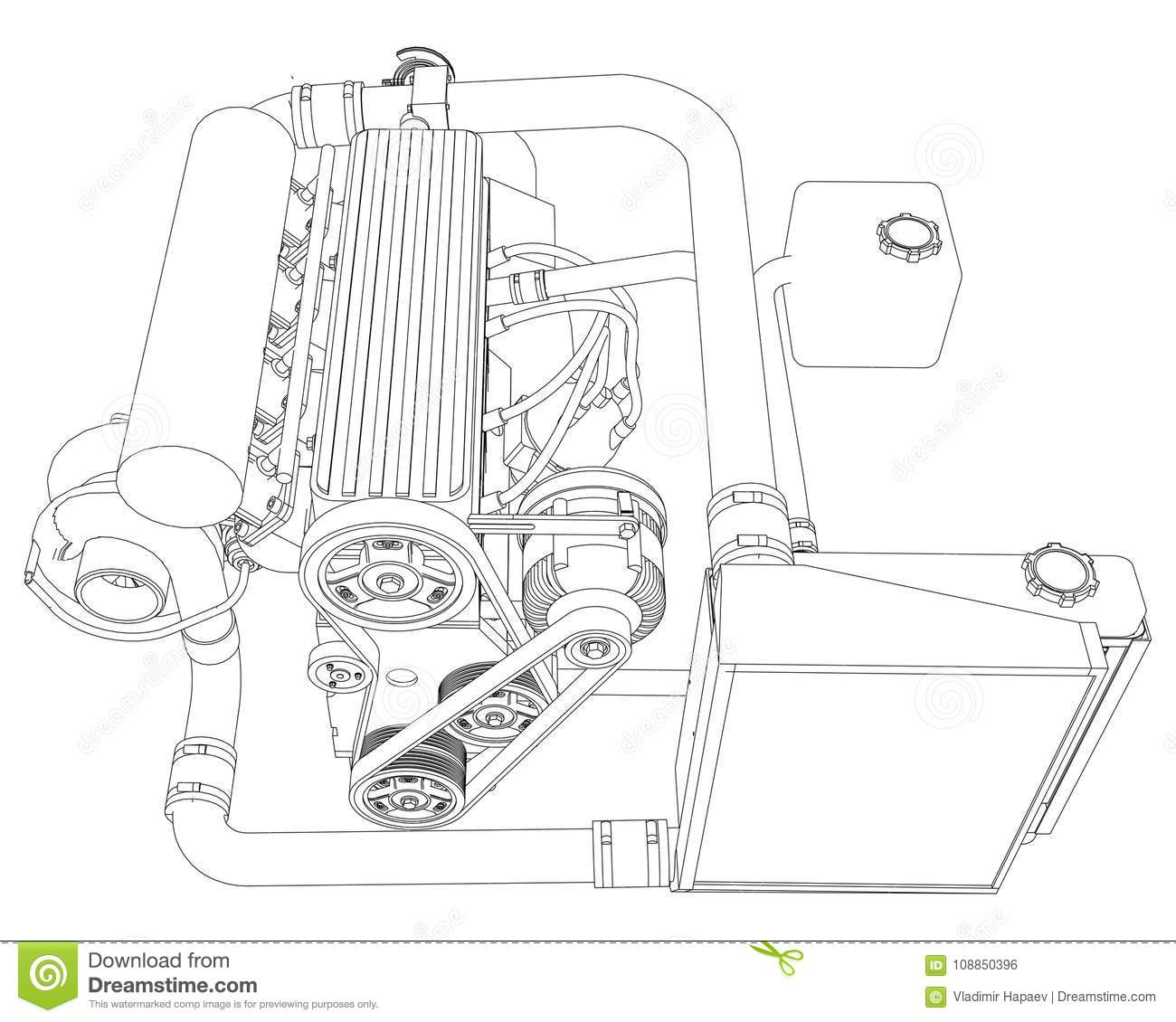 A Turbocharged Four Cylinder High Performance Engine For