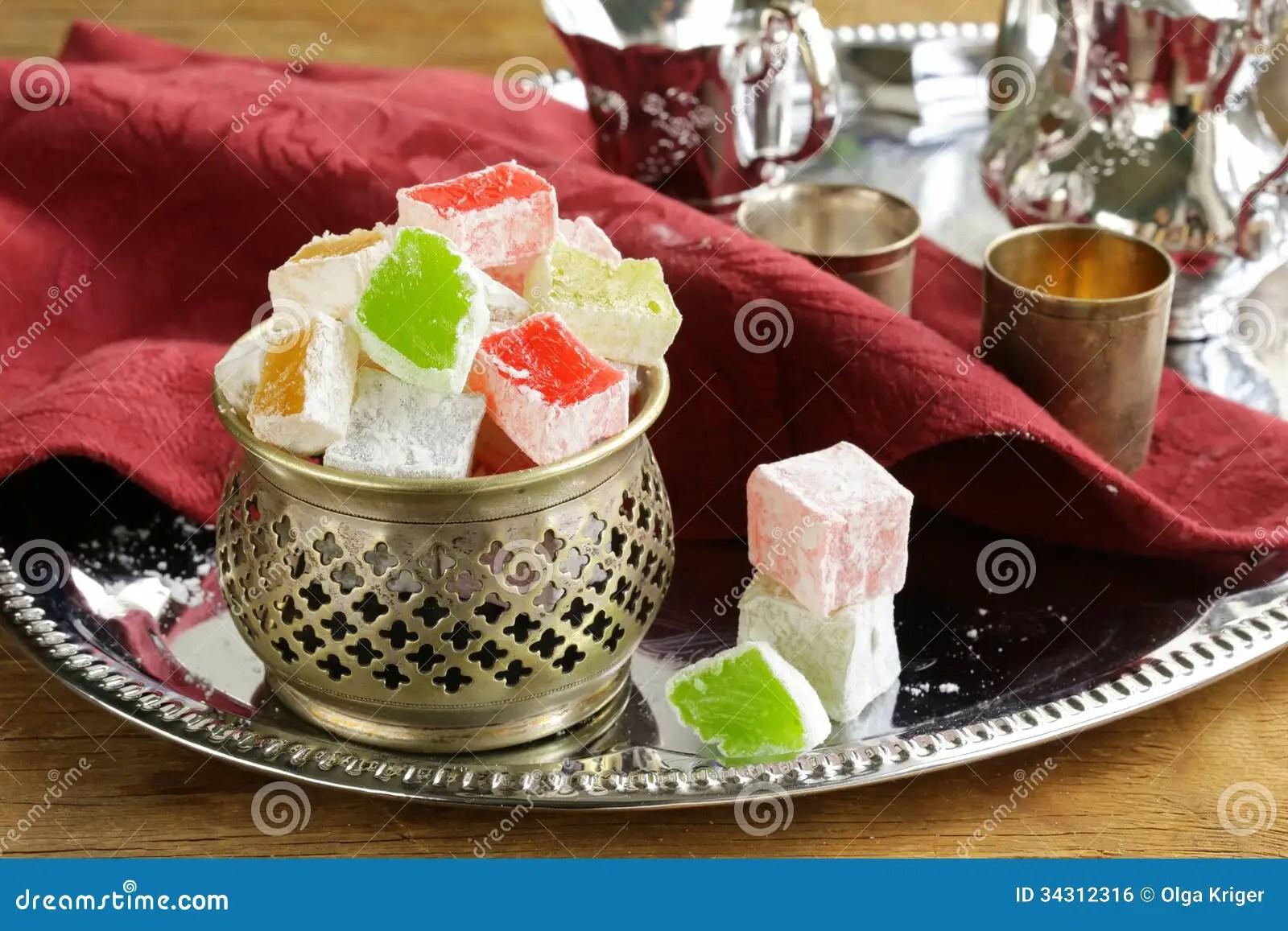 Turkish Delight Dessert Rahat Lokum Royalty Free Stock