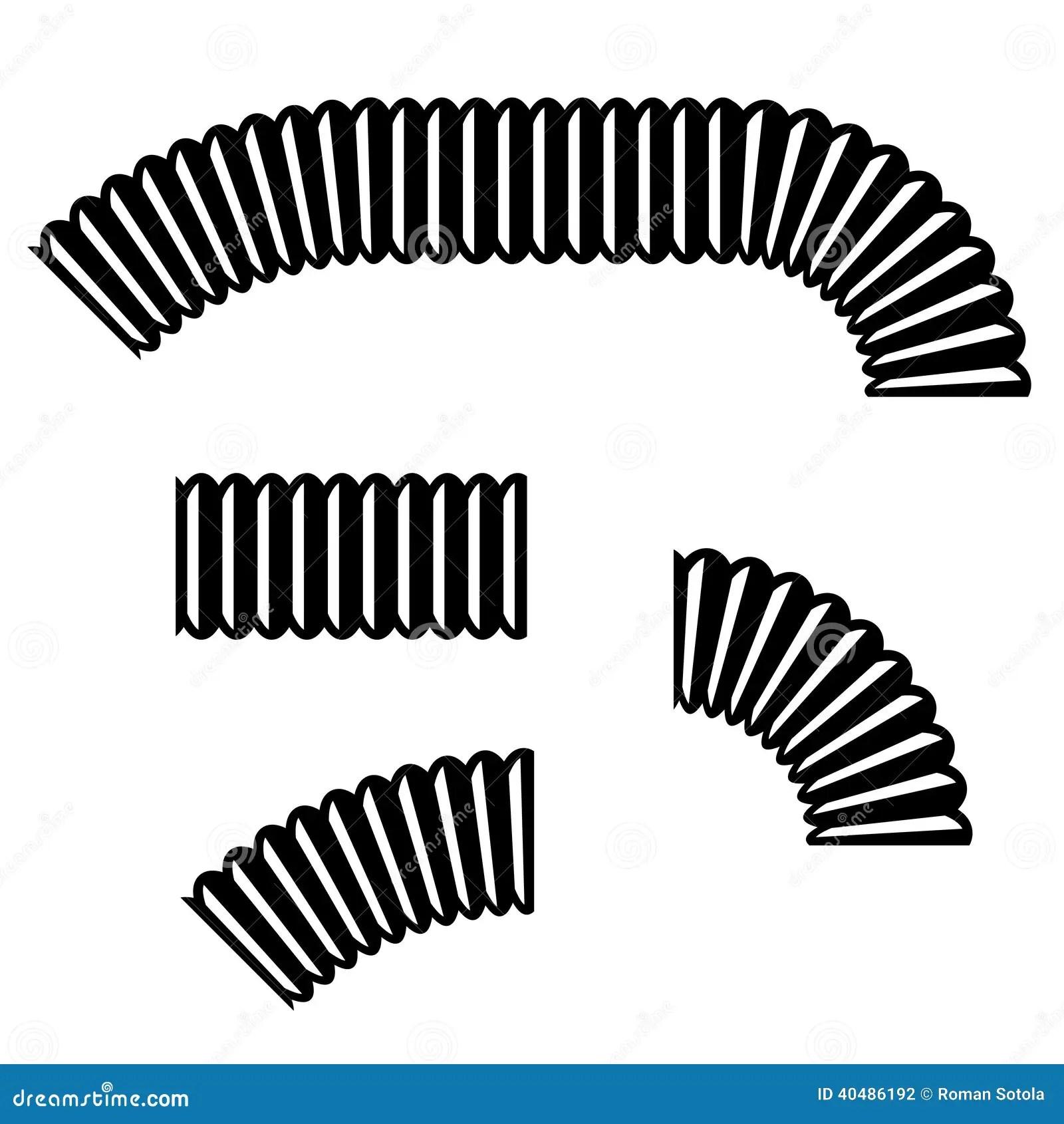 Tuyau Flexible De Col De Cygne Illustration De Vecteur