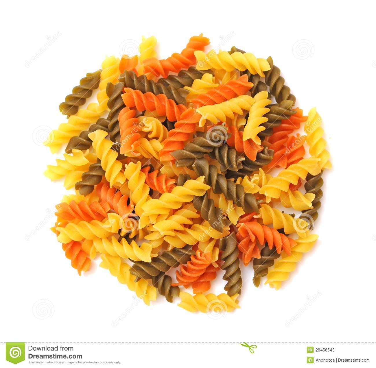 Twisted Pasta Stock Image Image Of Staple Spiral
