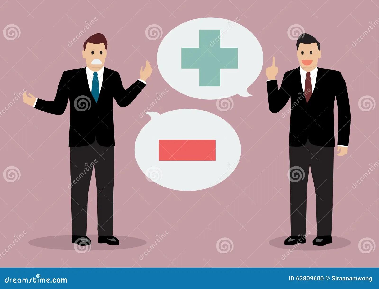 Negative Positive Body Language Stock Illustrations 14
