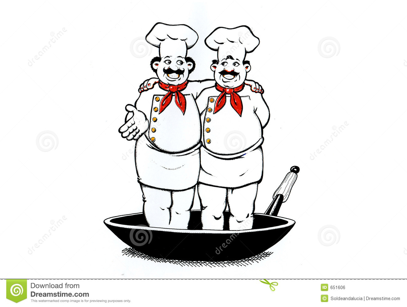 Two Cooks Stock Illustration Image Of Hobbies Leisure
