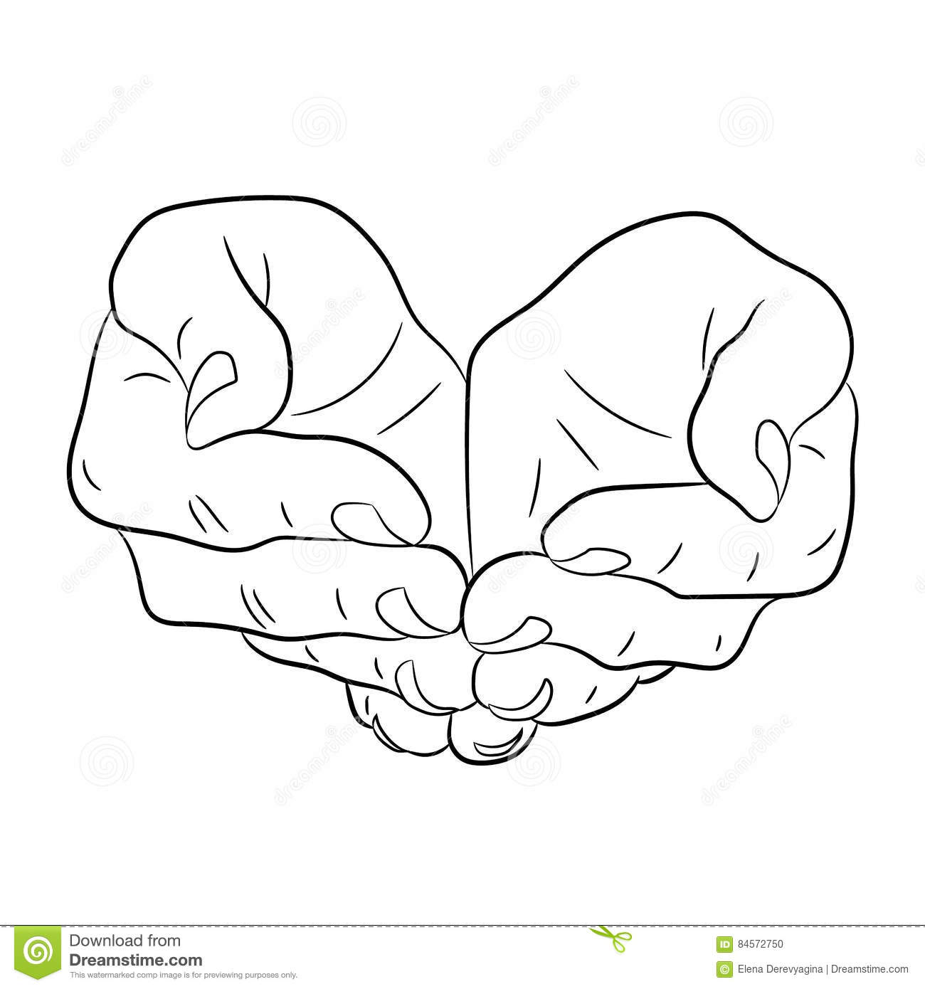 Two Open Palm Hands Stock Illustrations 377 Two Open