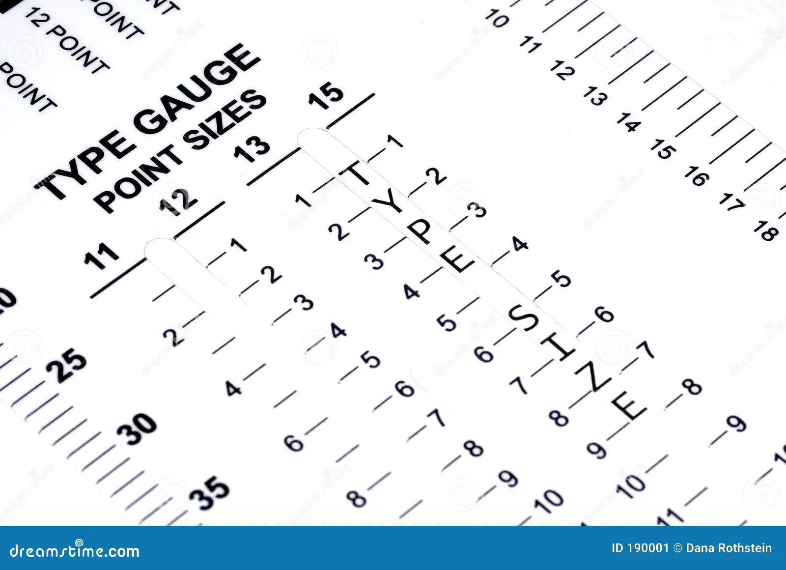 Type Gauge Stock Image