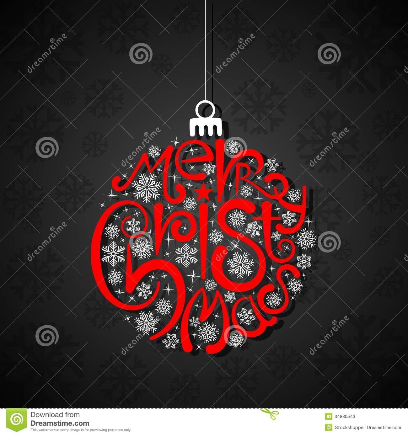 Typography Christmas Card Stock Photos Image 34830543