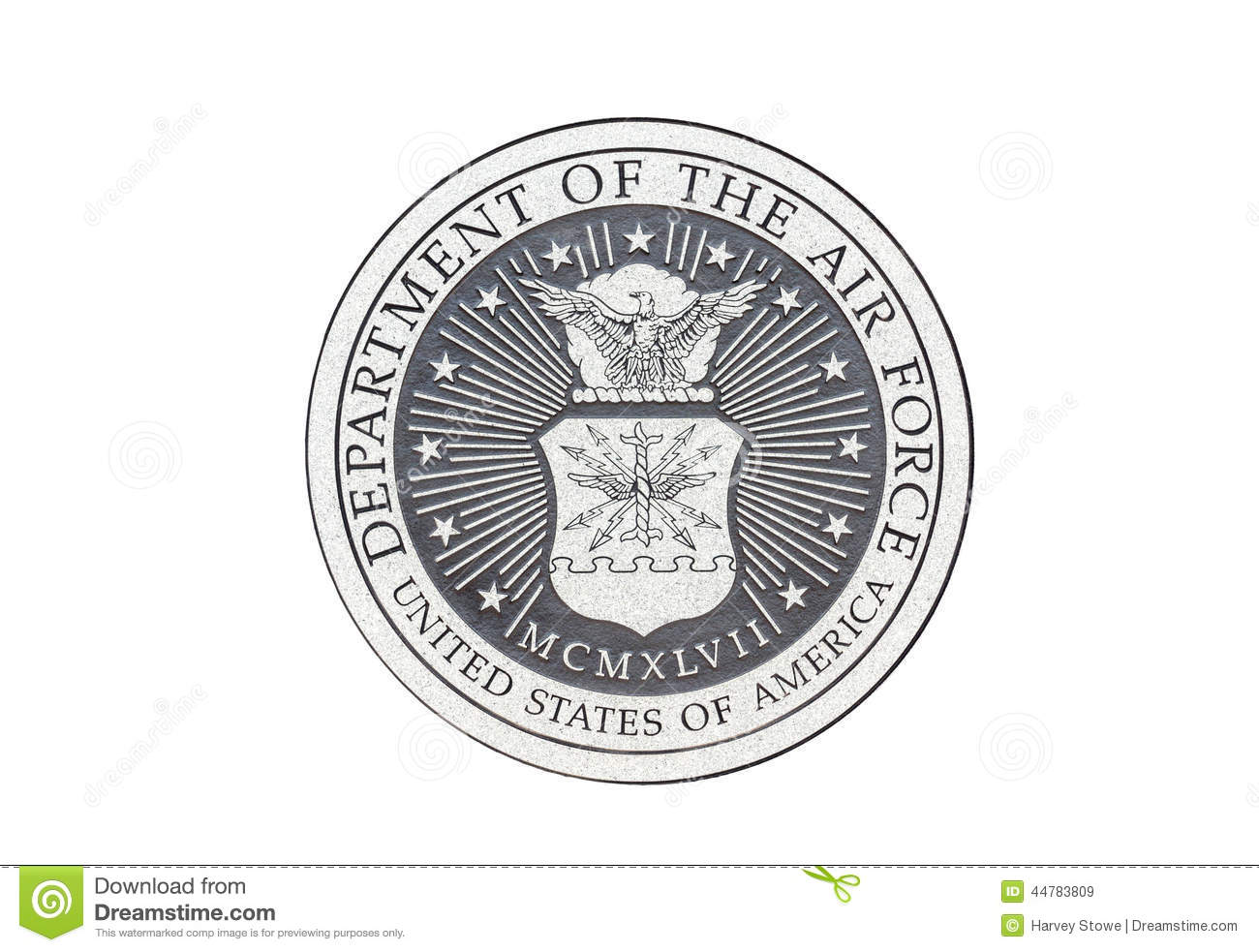 U S Air Force Official Seal Stock Illustration