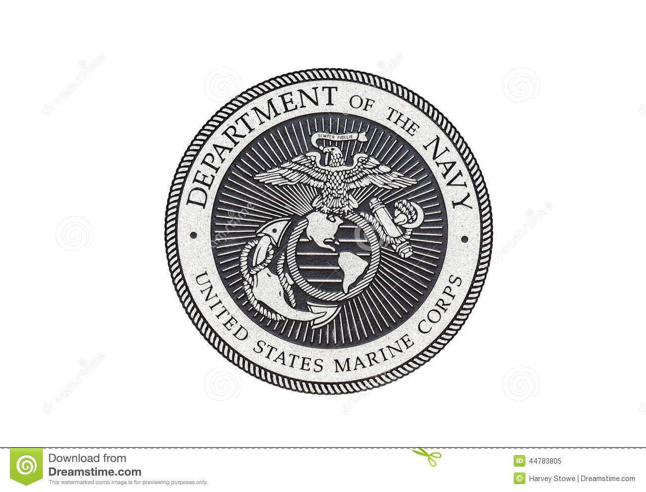 U S Marine Corps Official Seal Stock Illustration