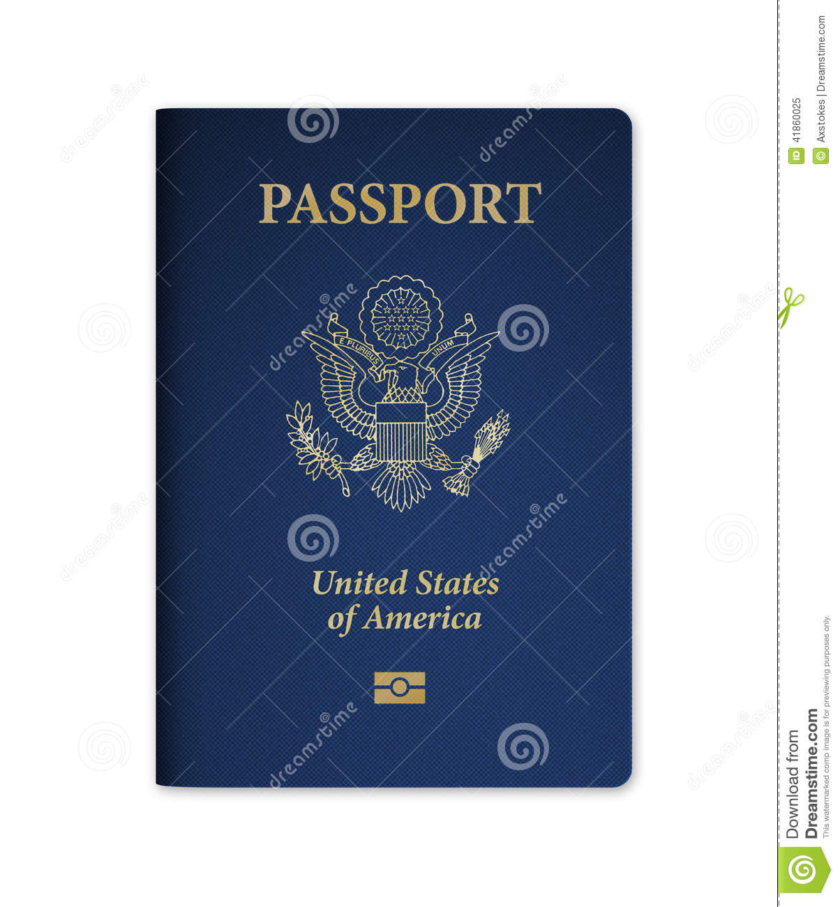 U S Passport With Microchip Stock Illustration