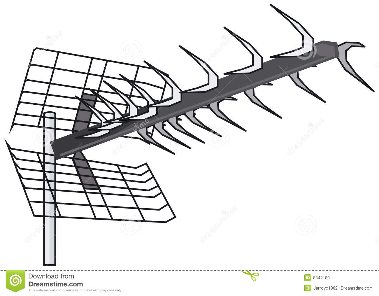 Stock Photo Uhf Yagi Antenna Image