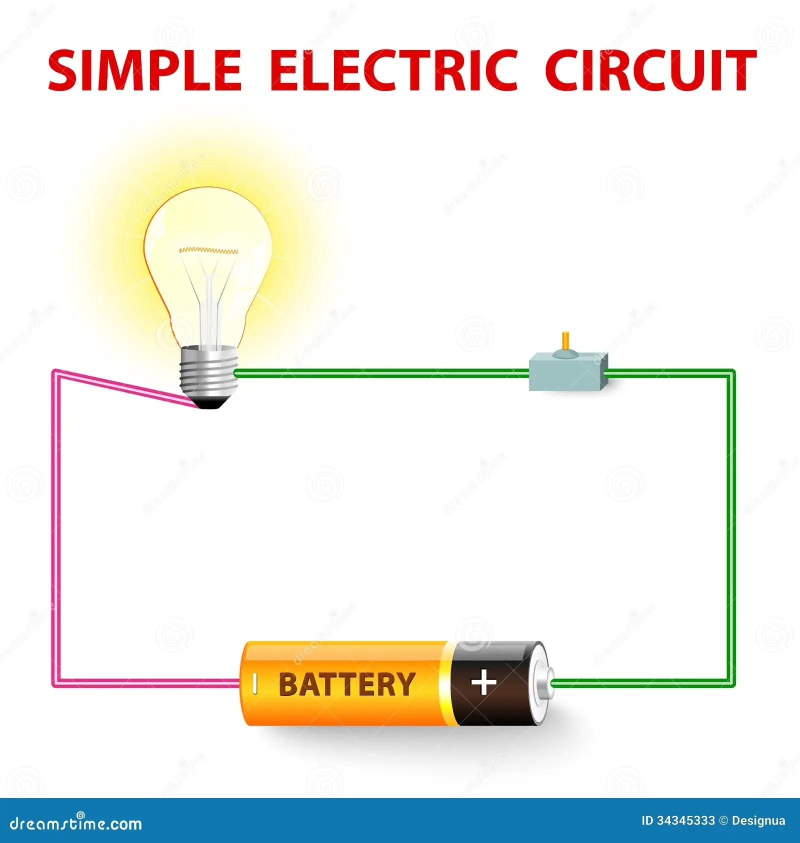 Un Circuito Electrico Simple Ilustracion Del Vector